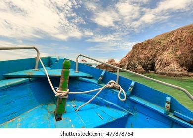 boat on beach of KyCo island, Qui Nhon province, VietNam