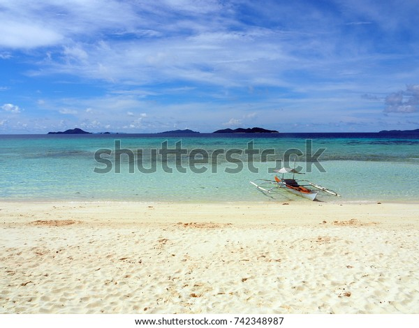 Boat on the beach of the Philippines