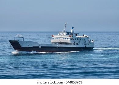 Boat on cruise