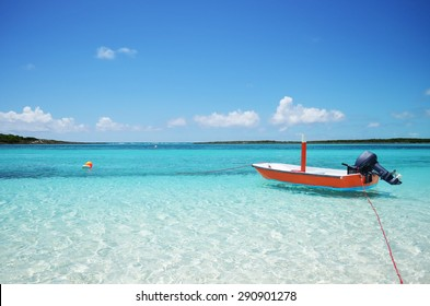 Boat on Deserted Island