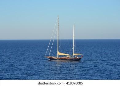 Boat on Egean sea