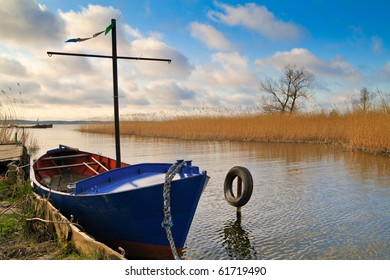 Boat on the island Usedom (Germany).