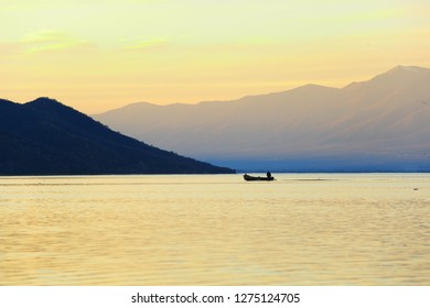 boat on lake kerkini