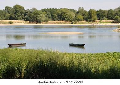 boat on Loire river