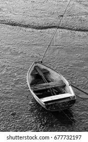 Boat on low tide