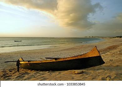Boat on madagascar beach