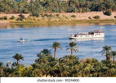 Boat on Nile River