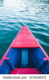 Boat on Phewa lake in Pokhura Nepal