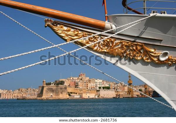 Boat on Port of Valleta, Malta