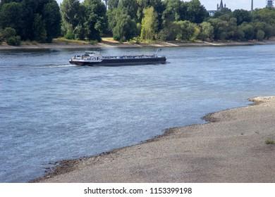 boat on river Rhine