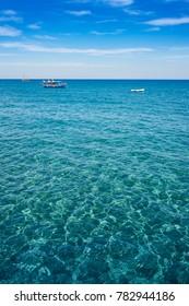 Boat on sea, Stegna beach (RHODES, GREECE)