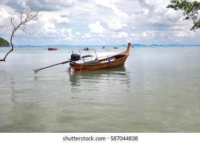 Boat on the sea in thailand (Krabi Island)
