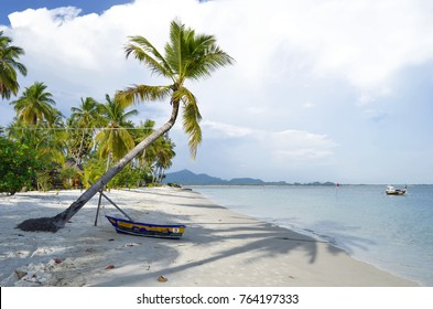 Boat on the southern side of Haad Sivalai beach at Koh Mook, Thailand