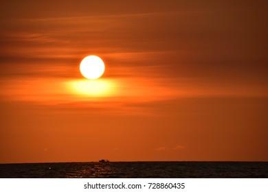 Boat on sunset 2