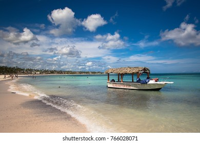 Boat on Tropical Beach