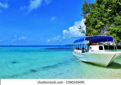 Boat on Tropical Sea (Palau, Micronesia)