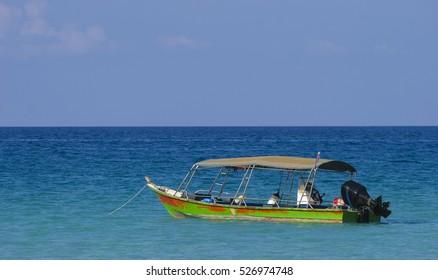 Boat at Perhentian Kecil Island, Terengganu, Malaysia.