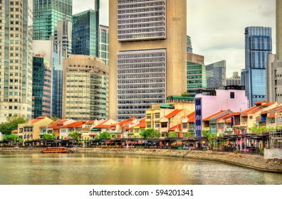 Boat Quay, a historical district in Singapore