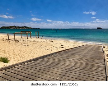 Boat ramp, old Jetty at Hamelin Bay Beach, Western Australia