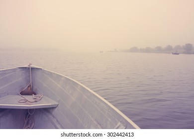 Boat Ride in the Morning on a Lake