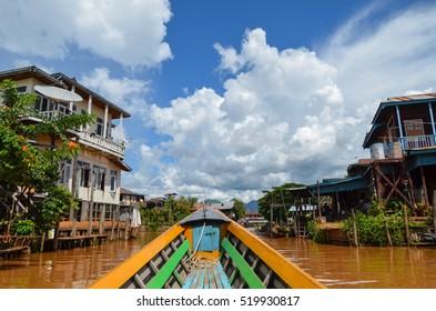 Boat ride on Inle Lake, around the traditional floating villages and fields of the lake