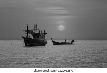 boat at the sae sunset,Thailand.