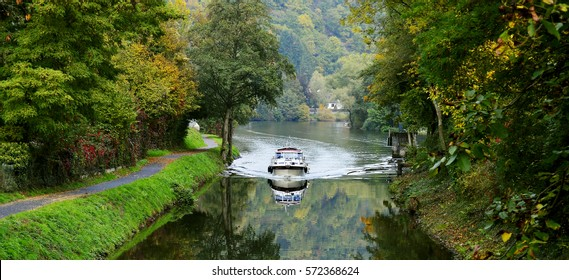 boat sailing on a navigable channel