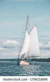 Boat sailing in the puget sound
