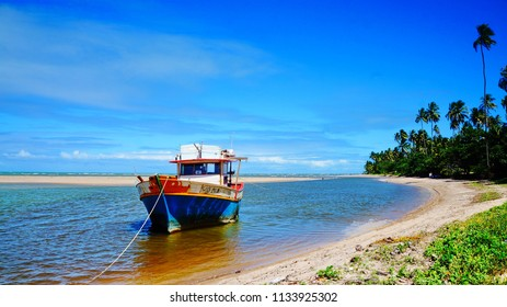 Fisherman's boat at Salinas, Maragogi, state of Alagoas, Brazil