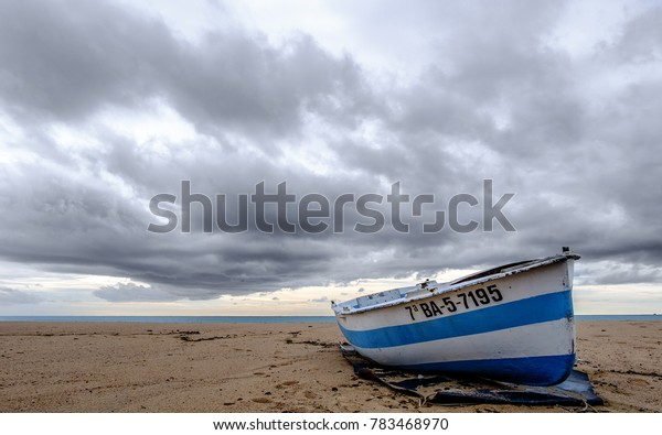 Boat in the sand