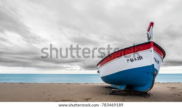Boat in the sand.