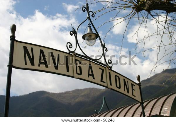 boat station on lake Como