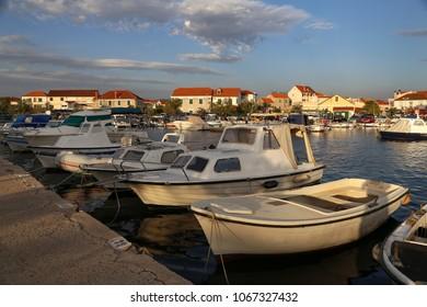 Boat station in the village of Zablace (Croatia)