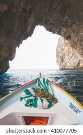 Boat trip around the Blue grotto in Malta