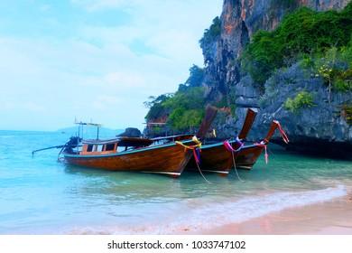 Boat trip to Krabi by boat.