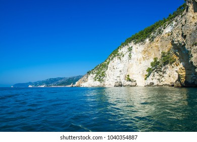 Boat trip to visit Italy's coastline caves