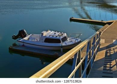 Boat waiting at the docks
