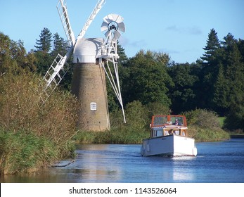 boat and windmill norfolk broads