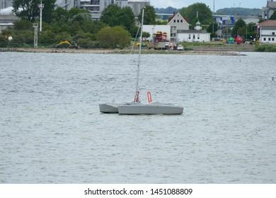 A boat in Wismar Germany