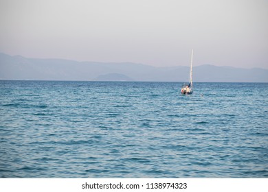 boat and yacht  on the sea