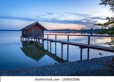 Boathouse at Ammersee in Stegen (Bavaria)