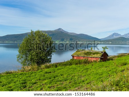 Boathouse in Balsfjord, Troms Norway