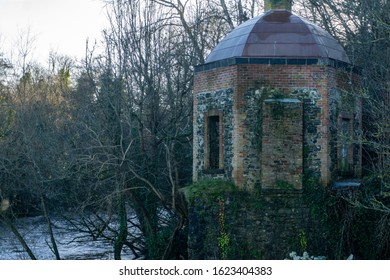The boathouse gazebo in St Catherines Park, Leixlip, Kildare,Ireland,built c1780, originally part of Leixlip Castle. It is located near the confluence of the River Liffey and River Rye.