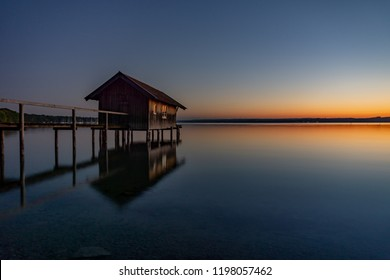 Boathouse at lake Ammersee