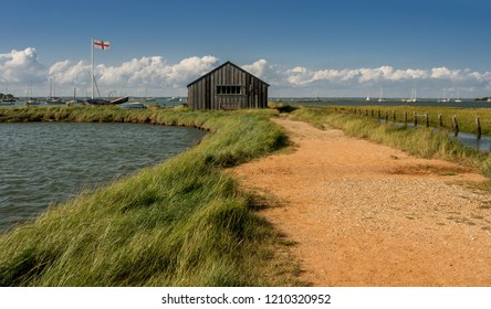 The boathouse at Newtown Creek, Isle of Wight, England.