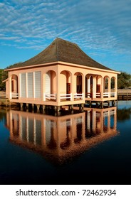 The Boathouse at the Whalehead Club at the Currituck Heritage Park.