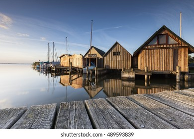 boathouses near ahrenshoop on the baltic sea
