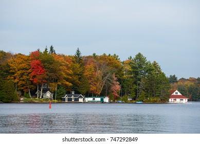 Boathouses on Lake Muskoka