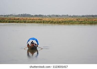 Boating at Ganga Ghat, Bithoor near Kanpur, Uttar Pradesh