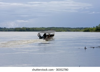 Boating on the Rio Napo River, Ecuadorian Amazon
